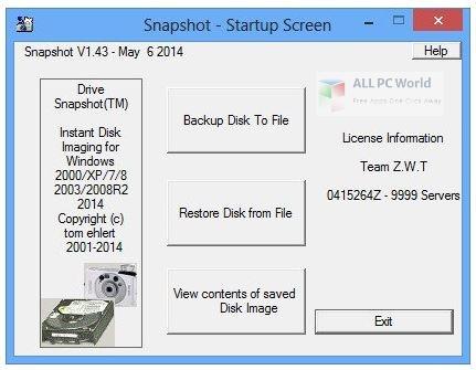 Drive SnapShot Setup Free Download