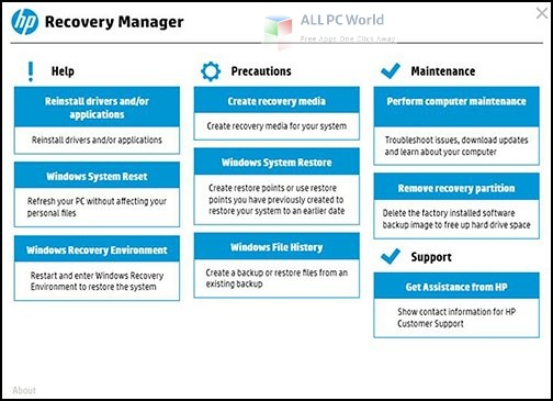 HP Recovery Manager 5 Setup Free Download