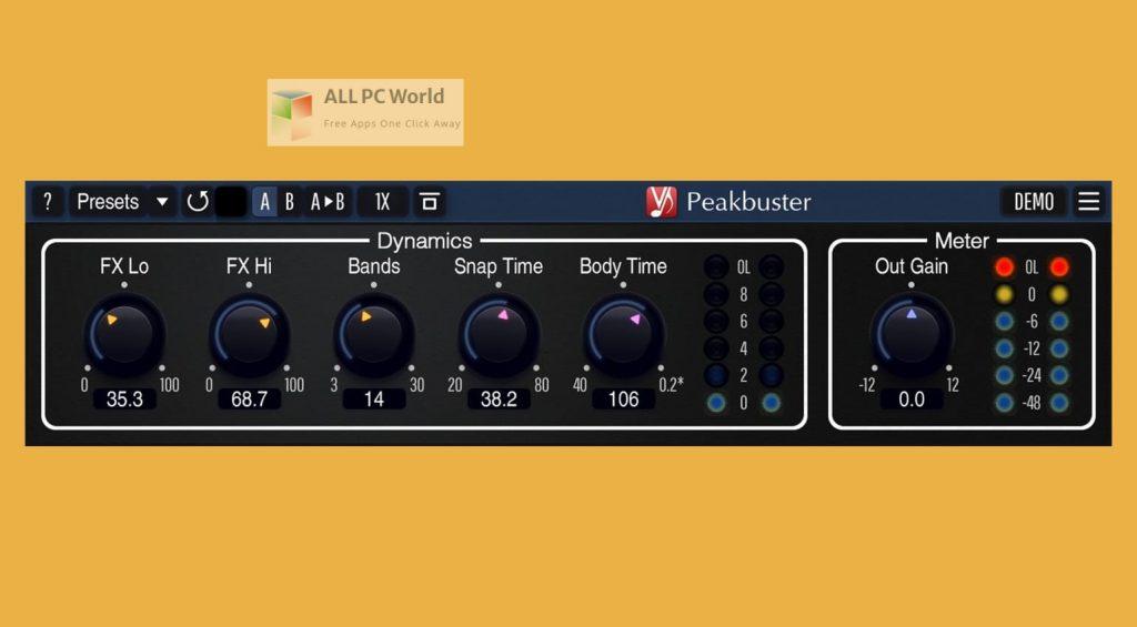 Voxengo Peakbuster Setup Free Download