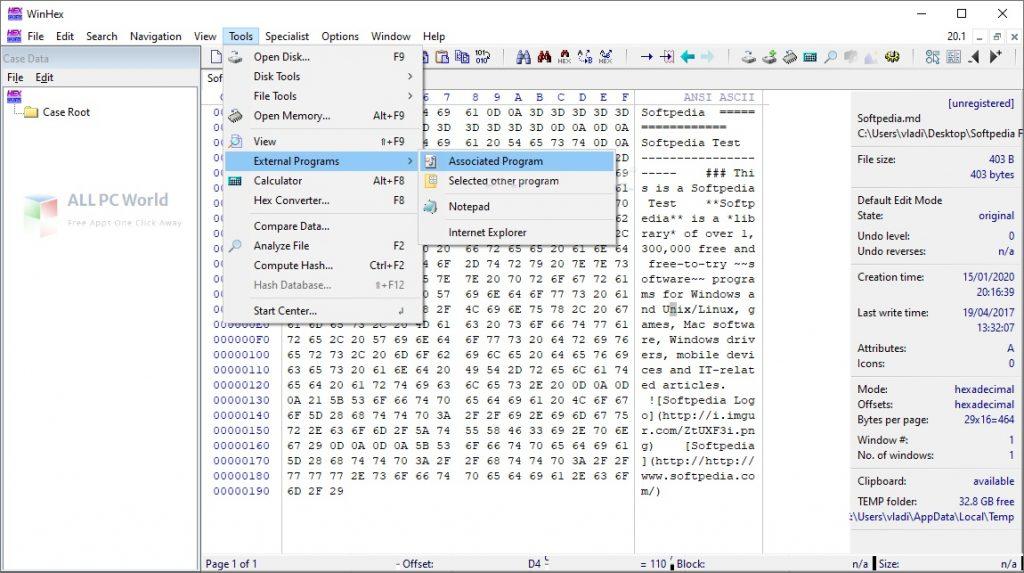 WinHex 20 Installer Free Download