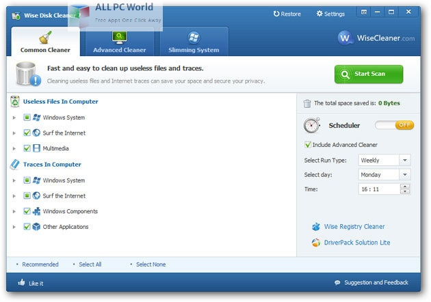 Wise Disk Cleaner 10 Setup Free Download