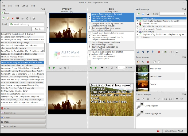 Bible projector Setup Free Download