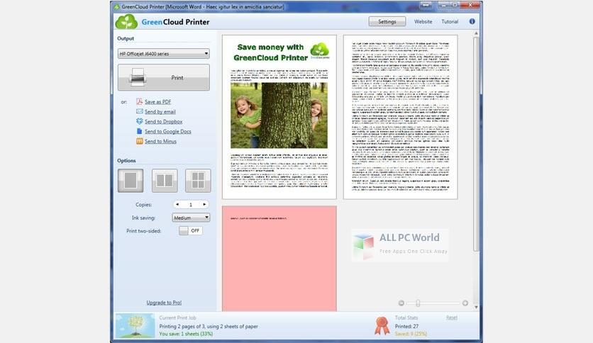 GreenCloud Printer Pro 7 Setup Free Download
