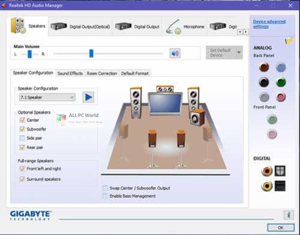 Realtek High Definition Audio Drivers 6 Free Download