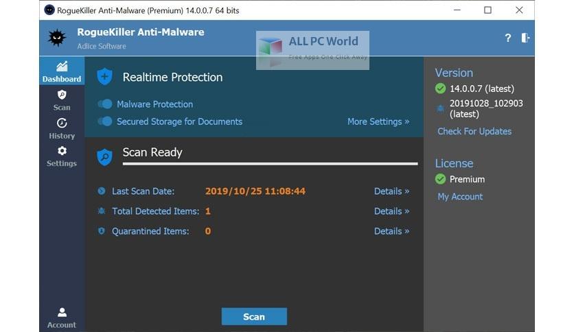 RogueKiller Anti Malware Premium 15 Free Download
