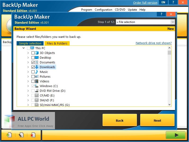 BackUp Maker Professional for Free Download