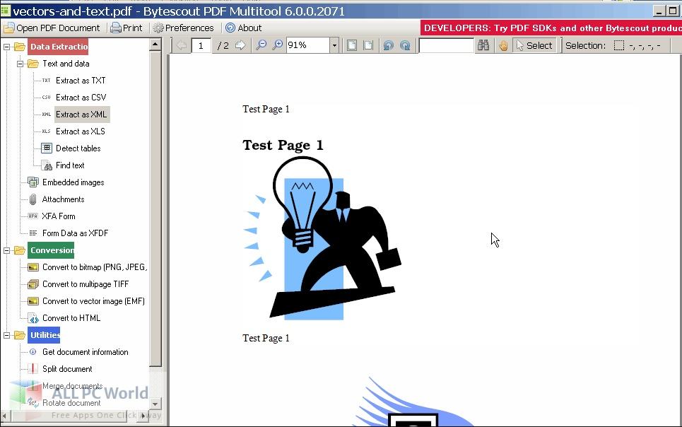 ByteScout PDF Multitool 12 Free Download