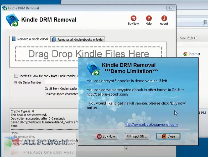 Kindle DRM Removal 4 Free Download
