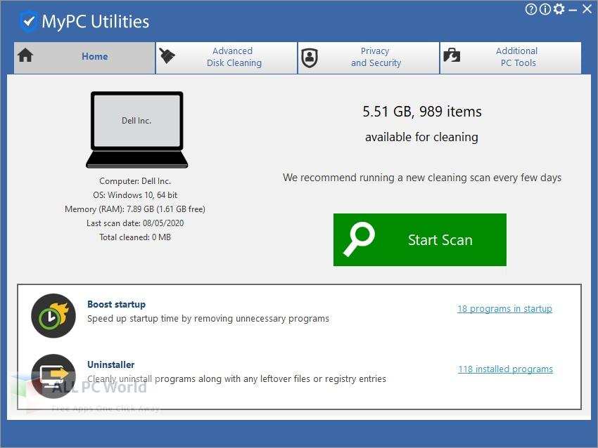 MyPC Utilities 7 Free Download