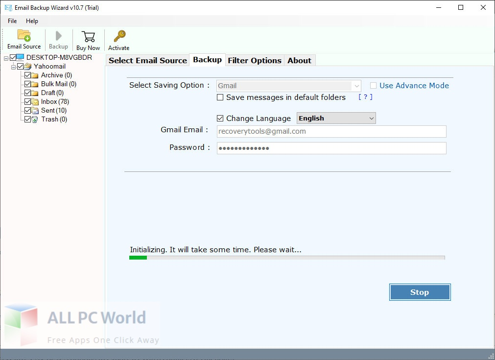 RecoveryTools Comcast Email Backup Wizard 6 Free Download