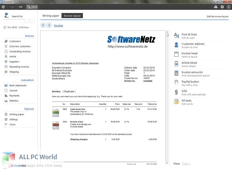 Softwarenetz Invoice Free Download