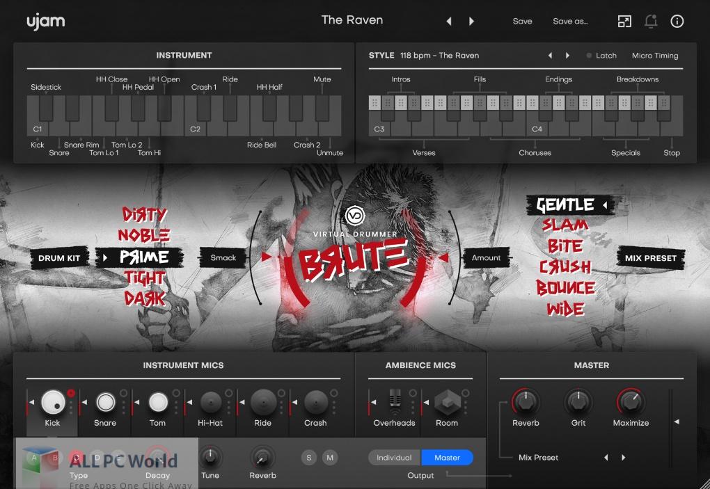 UJAM Virtual Drummer BRUTE 2 Free Download