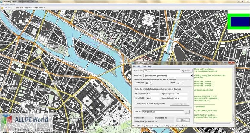AllMapSoft Offline Map Maker for Free Download