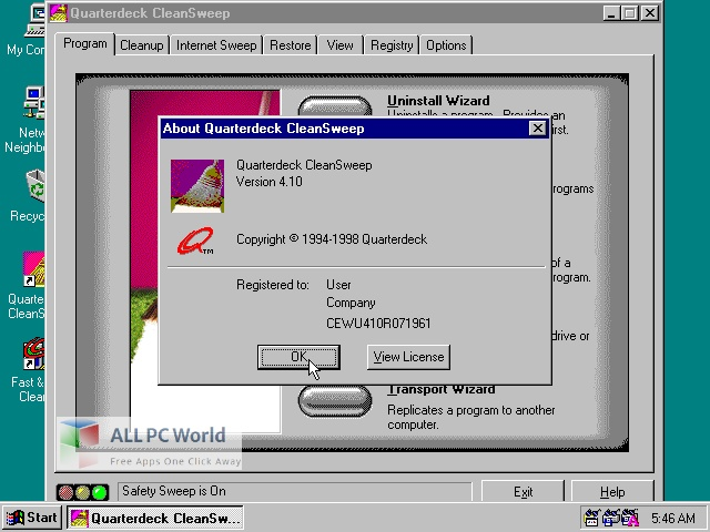 CleanSweep for Free Download
