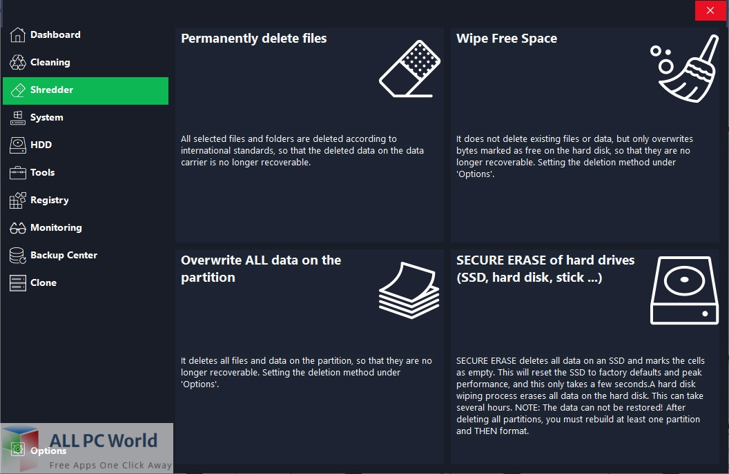 HDCleaner for Free Download