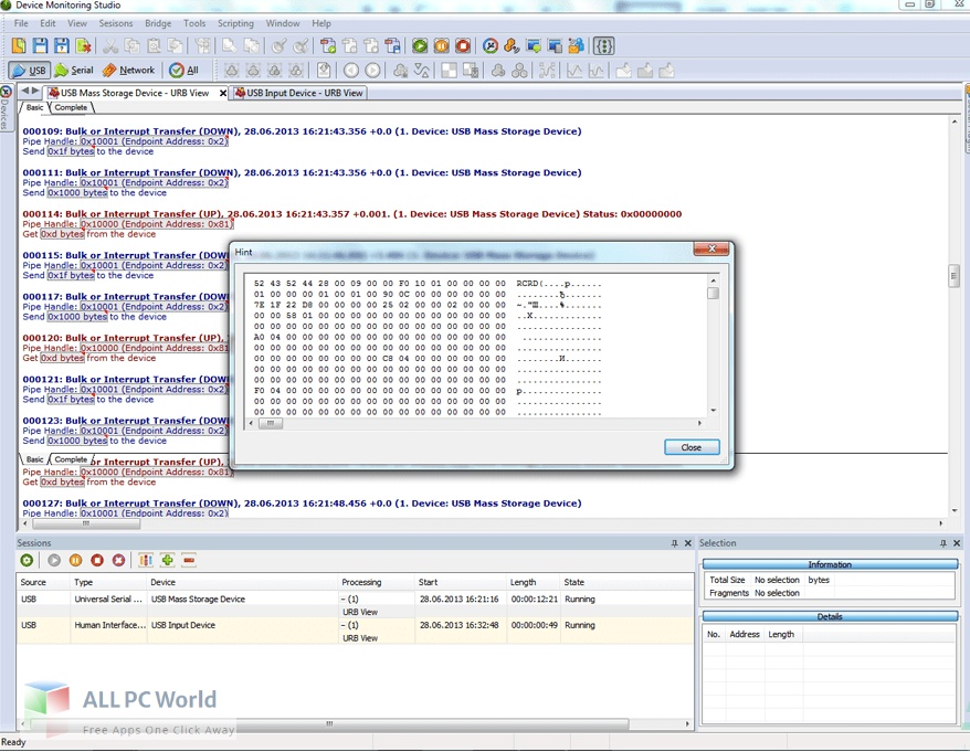 HHDSoftware USB Monitor Free Download