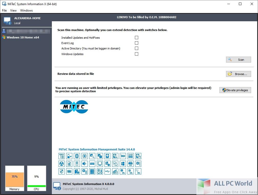 MiTeC System Information X 4 Free Download