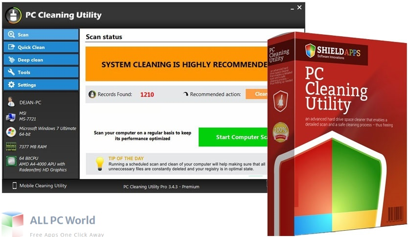 PC Cleaning Utility Pro Download Free