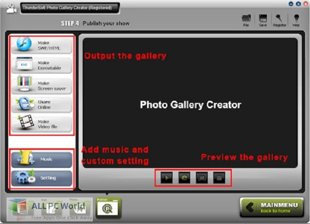 ThunderSoft Photo Gallery Creator Free Download