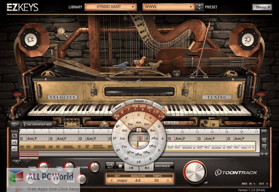 Toontrack EZkeys Hybrid Harp Free Download