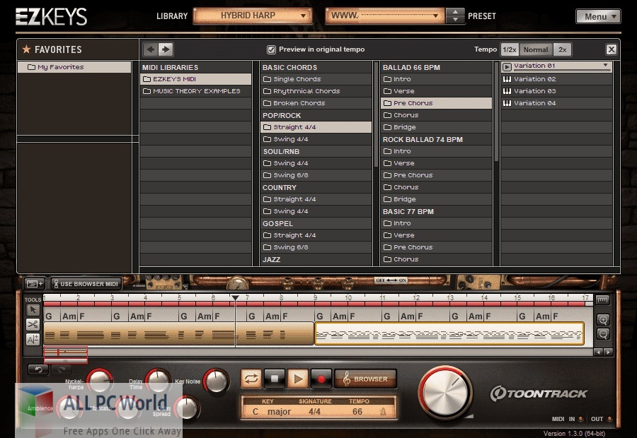 Toontrack EZkeys Hybrid Harp for Free Download