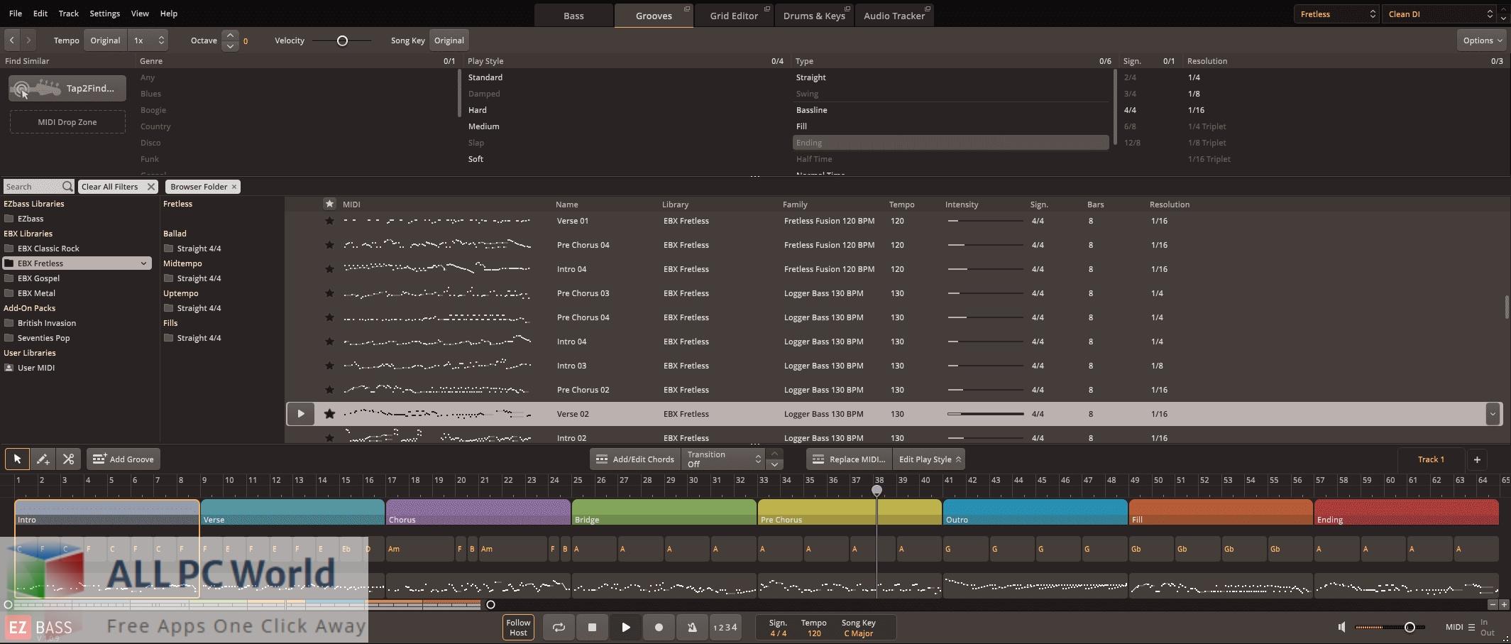 Toontrack Fretless EBX for Free Download