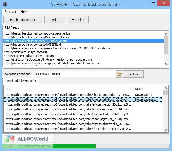 Vovsoft Podcast Downloader Free Download