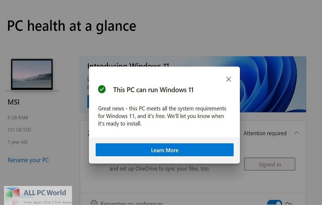 Windows PC Health Check Download Free