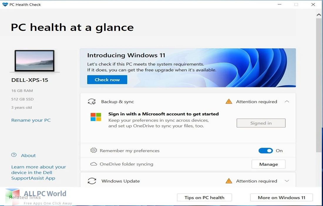 Windows PC Health Check Free Download