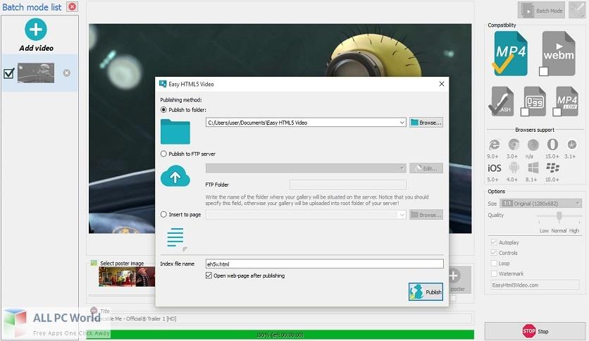 iPixSoft Video to HTML5 Converter 3 Free Download (1)