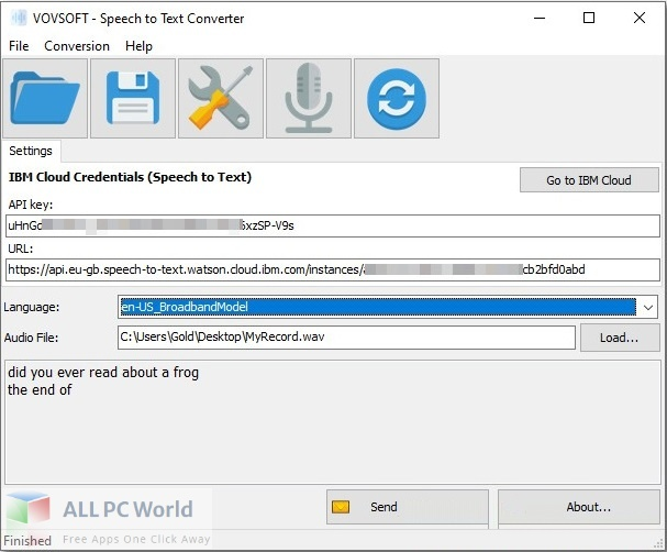 VovSoft Speech to Text Converter for Free Download